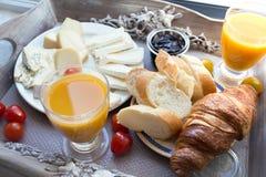 Heerlijk Frans ontbijt stock fotografie