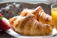 Heerlijk Frans ontbijt royalty-vrije stock afbeelding