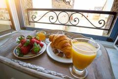 Heerlijk Frans ontbijt stock foto's