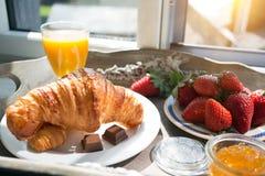 Heerlijk Frans ontbijt stock afbeeldingen