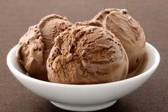 Heerlijk gastronomisch chocoladeroomijs, Stock Foto