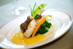 Heerlijk gastronomisch hoofdgerecht Royalty-vrije Stock Foto