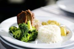 Heerlijk gastronomisch voedsel stock fotografie