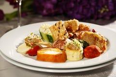 Heerlijk gastronomisch voedsel stock afbeelding