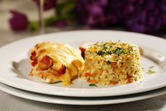 Heerlijk gastronomisch voedsel royalty-vrije stock foto