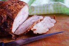 Heerlijk gebakken vlees stock foto