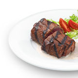 Heerlijk geroosterd haasbiefstuklapje vlees. Stock Afbeelding