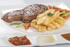 Heerlijk geroosterd voedsel Stock Foto