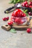 Heerlijk kersenroomijs Stock Foto's