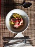 Heerlijk lapje vlees met fijngestampte aardappel royalty-vrije stock afbeelding