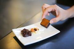 Heerlijk Met de hand gemaakt Yummy chocoladesuikergoed stock foto's