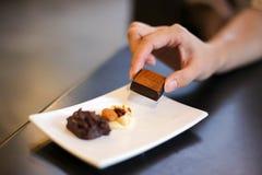 Heerlijk Met de hand gemaakt Yummy chocoladesuikergoed royalty-vrije stock afbeeldingen