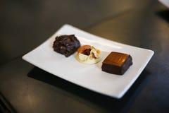 Heerlijk Met de hand gemaakt Yummy chocoladesuikergoed stock fotografie