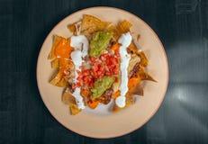 Heerlijk Mexicaans voedsel op een plaat Royalty-vrije Stock Afbeelding