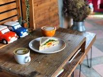 Heerlijk Ontbijt met speciale, Liefdeconcept royalty-vrije stock afbeelding