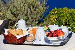 Heerlijk ontbijt voor twee stock foto's