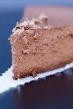 Heerlijk stuk van chocoladecake Stock Foto