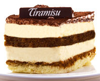 tiramisu dessert Royalty-vrije Stock Afbeeldingen