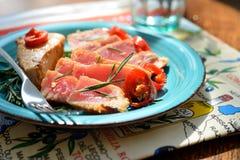 Heerlijk tonijnlapje vlees Royalty-vrije Stock Foto