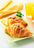 Heerlijk van Croissant Stock Fotografie