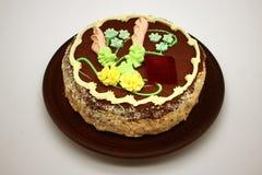 Heerlijk, verfraaid met een roomcake De traditionele Oekraïense Cake van Kiev stock afbeeldingen
