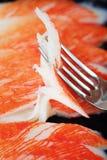 Heerlijk vers krabvlees op de lijst royalty-vrije stock fotografie