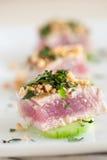 Heerlijk voorgerecht met tonijn royalty-vrije stock foto