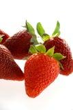 Heerlijke aardbeien royalty-vrije stock afbeeldingen