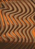 Heerlijke affiche van de chocolade de gouden karamel Abstract beeld van gouden glanzende 3d-golven voor achtergrond royalty-vrije illustratie