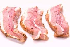 Heerlijke baconplakken Royalty-vrije Stock Foto's