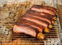 Heerlijke BBQ ribben Stock Foto's