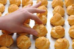 Heerlijke beignet profiterole Stock Foto
