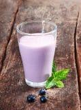 Heerlijke bosbessenyoghurt smoothie stock afbeelding