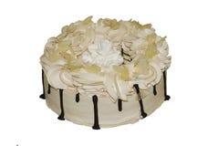 Heerlijke cake met koffie en melksmaak royalty-vrije stock foto