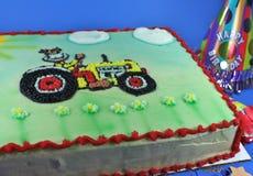 Heerlijke Cake met Suikerglazuur en Traktaties Stock Foto