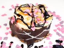 Heerlijke cake op witte achtergrond Stock Fotografie