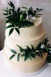 Heerlijke cake van huwelijk Stock Foto