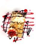 Heerlijke cakes op witte achtergrond Stock Afbeelding