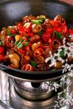 Heerlijke Chinese kleurrijke vegetab van de voedsel koude schotel royalty-vrije stock foto