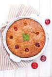 Heerlijke chocoladecake stock foto
