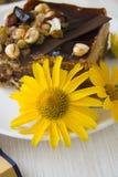 Heerlijke Chocoladecake op plaat Stock Fotografie