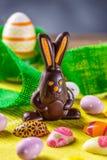Heerlijke chocoladepaashaas Royalty-vrije Stock Afbeelding