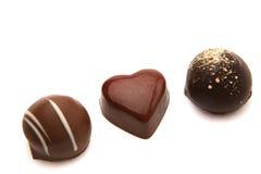 Heerlijke chocoladepralines Stock Afbeelding
