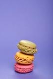 Heerlijke colorfull macarons Stock Afbeelding
