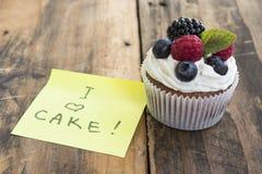 Heerlijke Cupcake met Royalty-vrije Stock Afbeeldingen