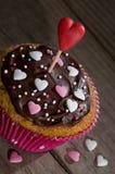 Heerlijke cupcake voor de Dag van Valentine Stock Afbeelding