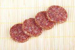 Heerlijke de salamiworst van de besnoeiing Stock Foto's