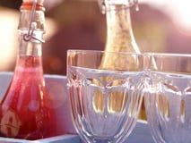 Heerlijke de zomerdranken in een tuin Royalty-vrije Stock Fotografie