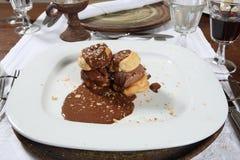 Heerlijke dessertplaat Royalty-vrije Stock Foto