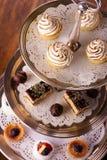 Heerlijke dessertselectie Royalty-vrije Stock Afbeelding